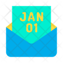 01 01 January Email Icon