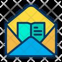 Mail Study E Book Email E Book E Book Icon