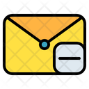 Mail Message Reduce Icon