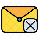 Mail Message Cross Icon