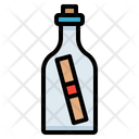 Mail Bottle Scroll Icon