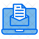 Labtop Mail Technology Icon