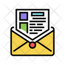 Sending Mail Report Icon