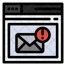 Mail Alert Email Alert Mail Warning Icon