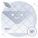 Verify Mail Check Mail Mail Approved Icon