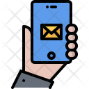 Hand Phone Email Icon