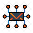 Mail Circuit Icon