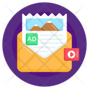 Media Mail Mail Content Video Mail Icon