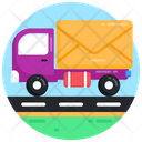 Post Truck Mail Truck Mail Delivery Icon