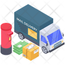 Delivery Van Delivery Truck Mail Delivery Services Icon
