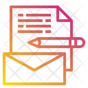 Mail File Pen Icon