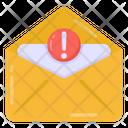 Mail Alert Mail Error Mail Warning Icon