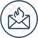 Mail Fire Icon
