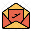 Airplane Document Email Icon