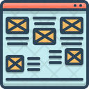 Mail interface Icon