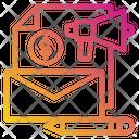Media Mail Megaphone Icon
