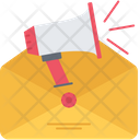 Mail Letter Horn Icon