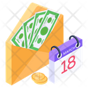 Financial Mail Mail Reminder Financial Letter Icon