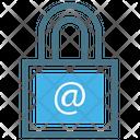 Locked Padlock Text Icon