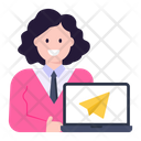 Online Send Mail Send Paper Plane Icon