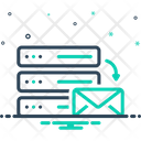 Mail Server Email Hosting Data Icon