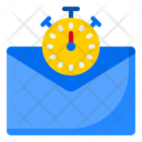 Mail Time Email Time Stopwatch Icon