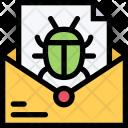 Mail Virus Computer Icon