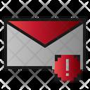 Mail Caution Warning Icon