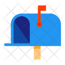 Mailbox Opened Flag Icon