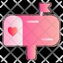 Mailbox Love Romance Icon