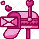 Mailbox Valentines Day Love Letter Icon
