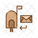 Mailbox And Envelope Mail Box Mailbox Icon
