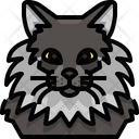 Maine Coon Cat Cat Face Icon