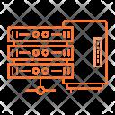 Mainframe Datacenter Storage Icon