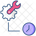 Maintaining Pace Maintenance Time Time Management Icon