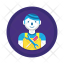 Maintenance Technical Guy Worker Icon