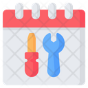Maintenance Repair Schedule Icon
