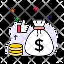 Making Money Earn Cash Money Sack Icon