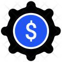 Financial Money Cogwheels Icon
