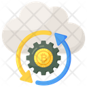 Making Money Cloud Bitcoin Cloud Money Icon