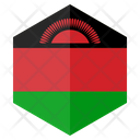 Malawi Flag Hexagon Icon