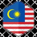 Malaysia Flag Country Icon