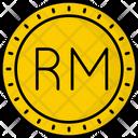 Malaysia Ringgit Coin Money Icon