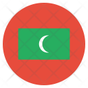 Maldives National Country Icon
