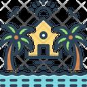 Maldives Island Palm Icon