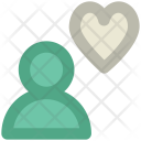 Male Avatar Heart Icon
