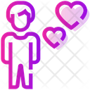 Valentine Day Male Heart Icon