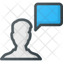 Male User Message Icon