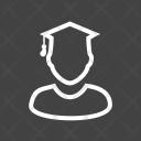 Male Student Study Icon