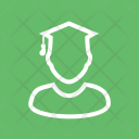 Male Student Study Icon